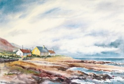 "Storm Over Kilkeel • 15"" x 22"" Watercolor/140 lb Arches"