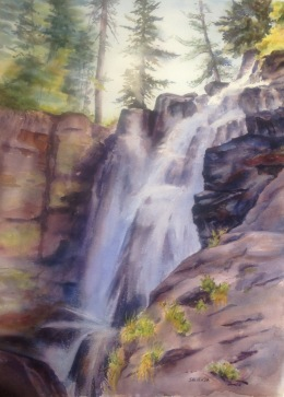 King's Creek Falls 22x15 watercolor